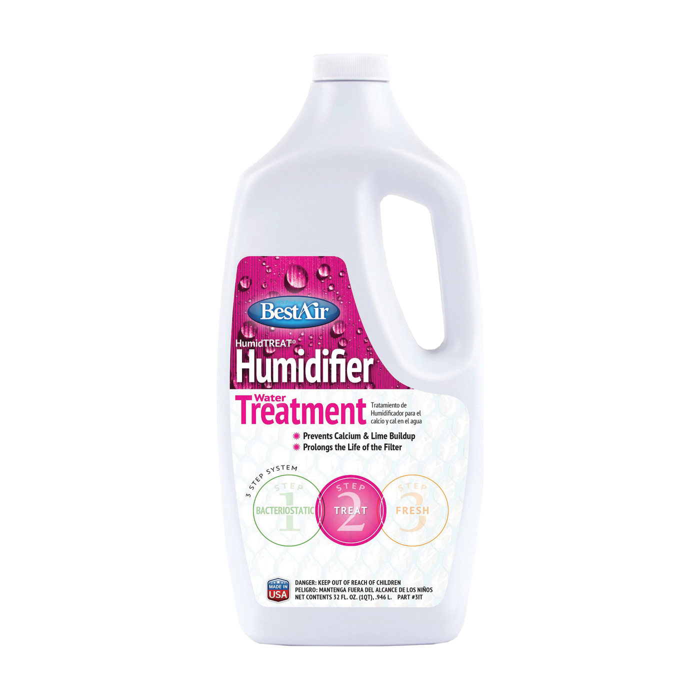 Picture of BestAir 1T Humidifier Water Treatment, 32 oz Package