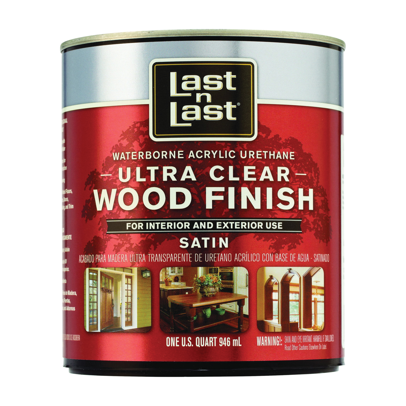 Picture of Last n Last 13104 Ultra Clear Wood Finish, Liquid, Ultra Clear, 1 qt, Can