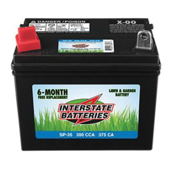 Picture of INTERSTATE BATTERIES SP-35 Lawn and Garden Battery, Lead-Acid