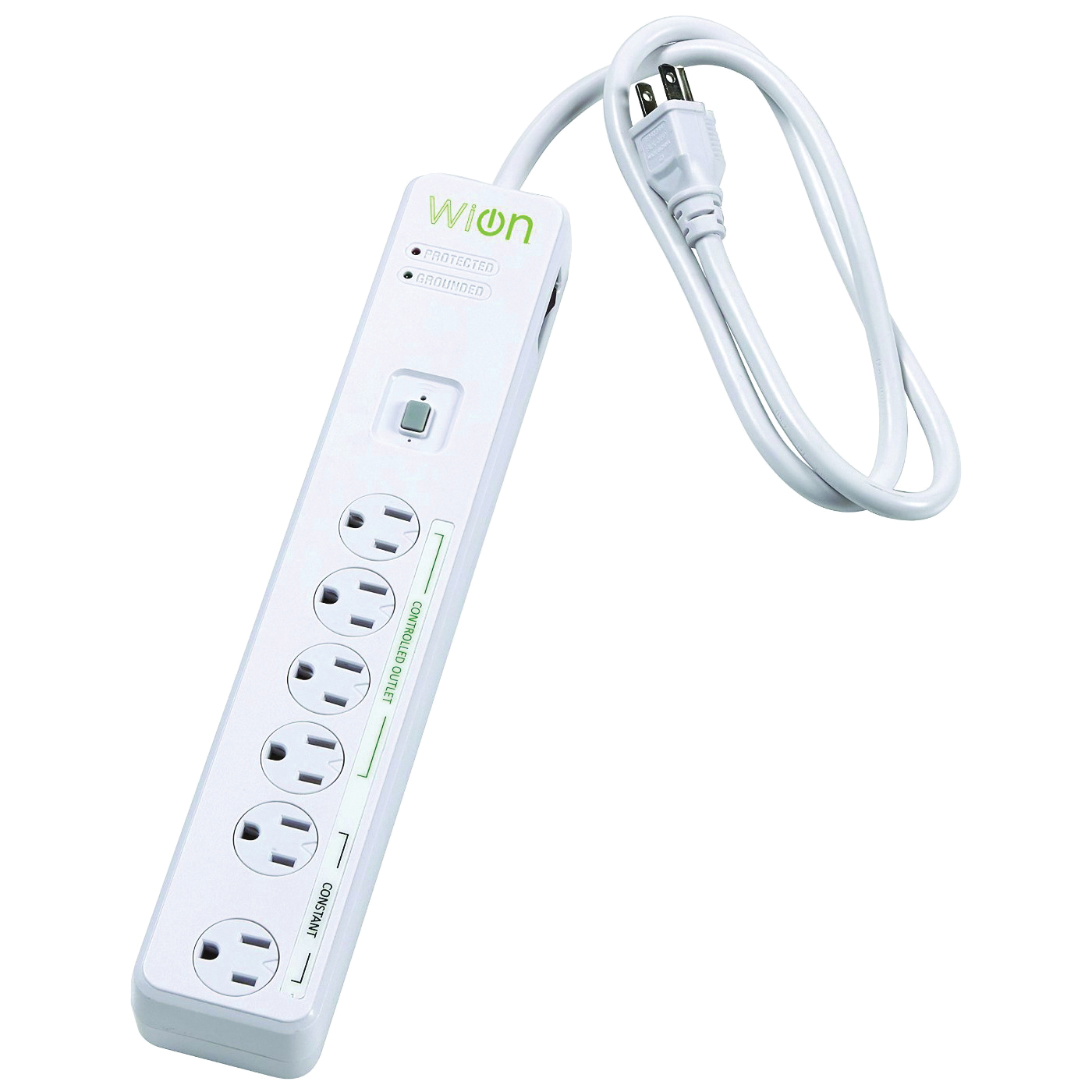 Picture of CCI 50051 Surge Protector, 120 V, 15 A, 4-Outlet, 900 J Energy, White