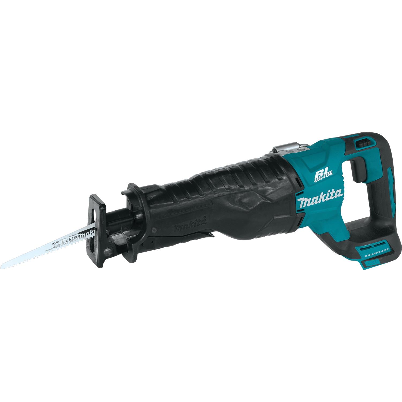 Picture of Makita XRJ05Z Reciprocating Saw, Bare Tool, 18 V Battery, 10 in Cutting Capacity, 1-1/4 in L Stroke