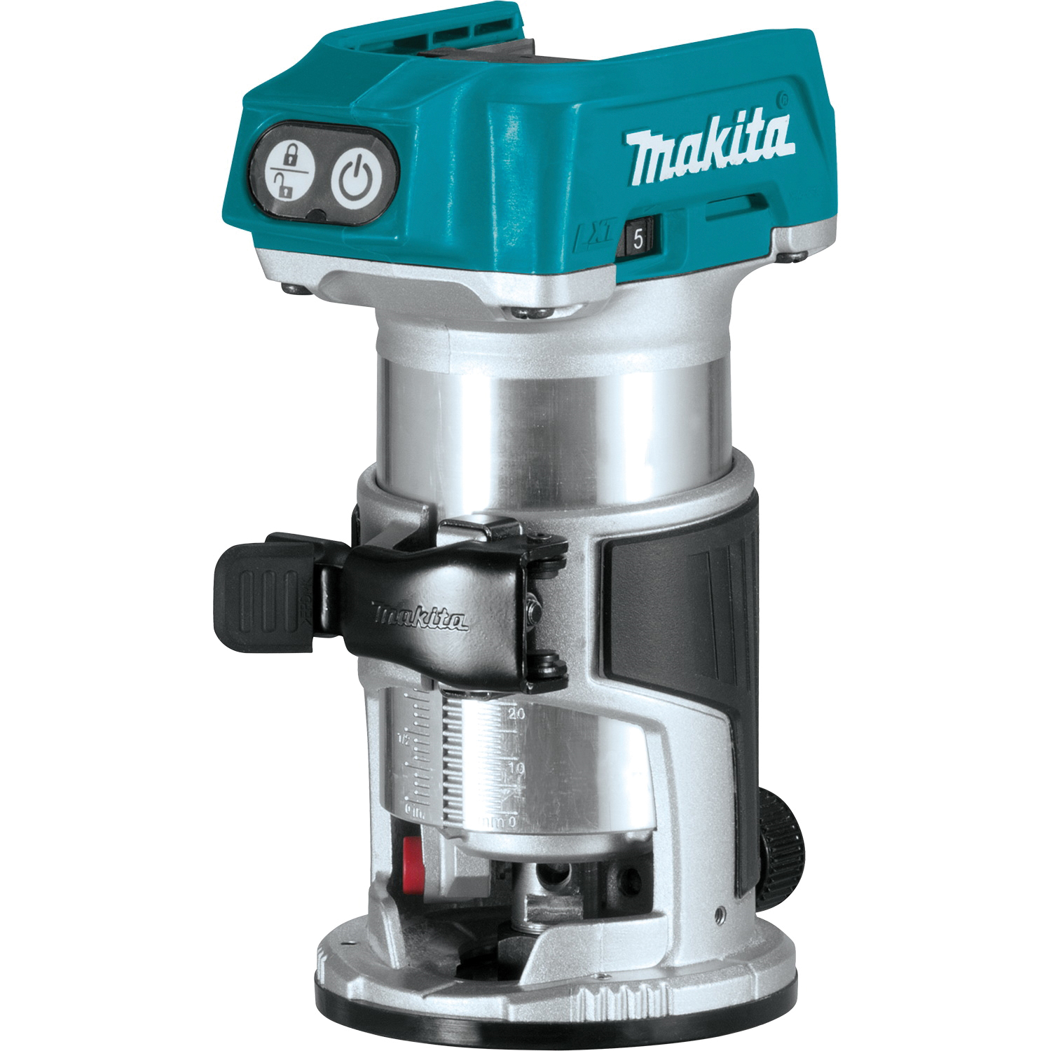 Picture of Makita XTR01Z Compact Router, 18 V, 10,000 to 30,000 rpm Spindle