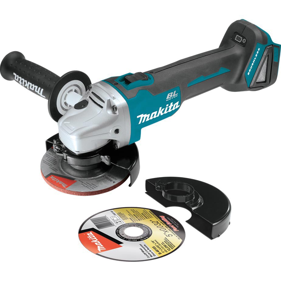 Picture of Makita XAG04Z Cut-Off/Angle Grinder, Bare Tool, 18 V Battery, 5 in Dia Wheel, 8500 rpm Speed, Battery Included: No