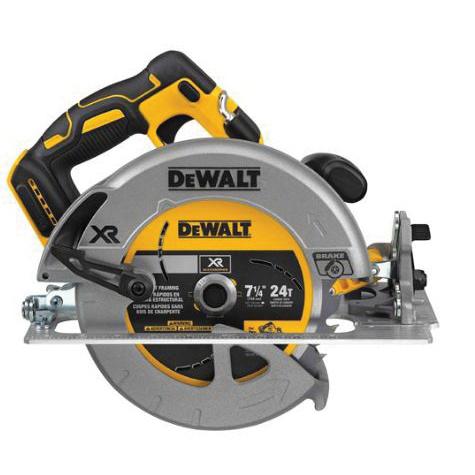 Picture of DeWALT DCS570B Circular Saw, Bare Tool, 20 V Battery, 5 Ah, 7-1/4 in Dia Blade, 57 deg Bevel, 5500 rpm Speed