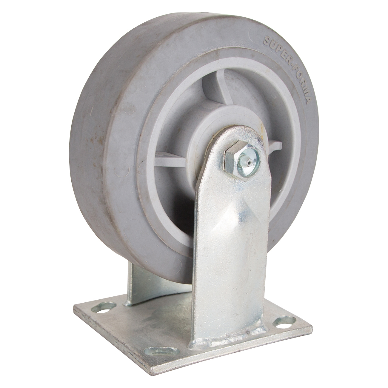 Picture of ProSource JC-T05 Rigid Caster, 6 in Dia Wheel, 2 in W Wheel, Thermoplastic Rubber Wheel, 500 lb