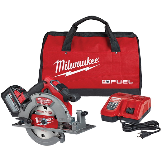 Picture of Milwaukee 2732-21HD Circular Saw Kit, Kit, 18 V Battery, 12 Ah, 7-1/4 in Dia Blade, 50 deg Bevel, 5800 rpm Speed