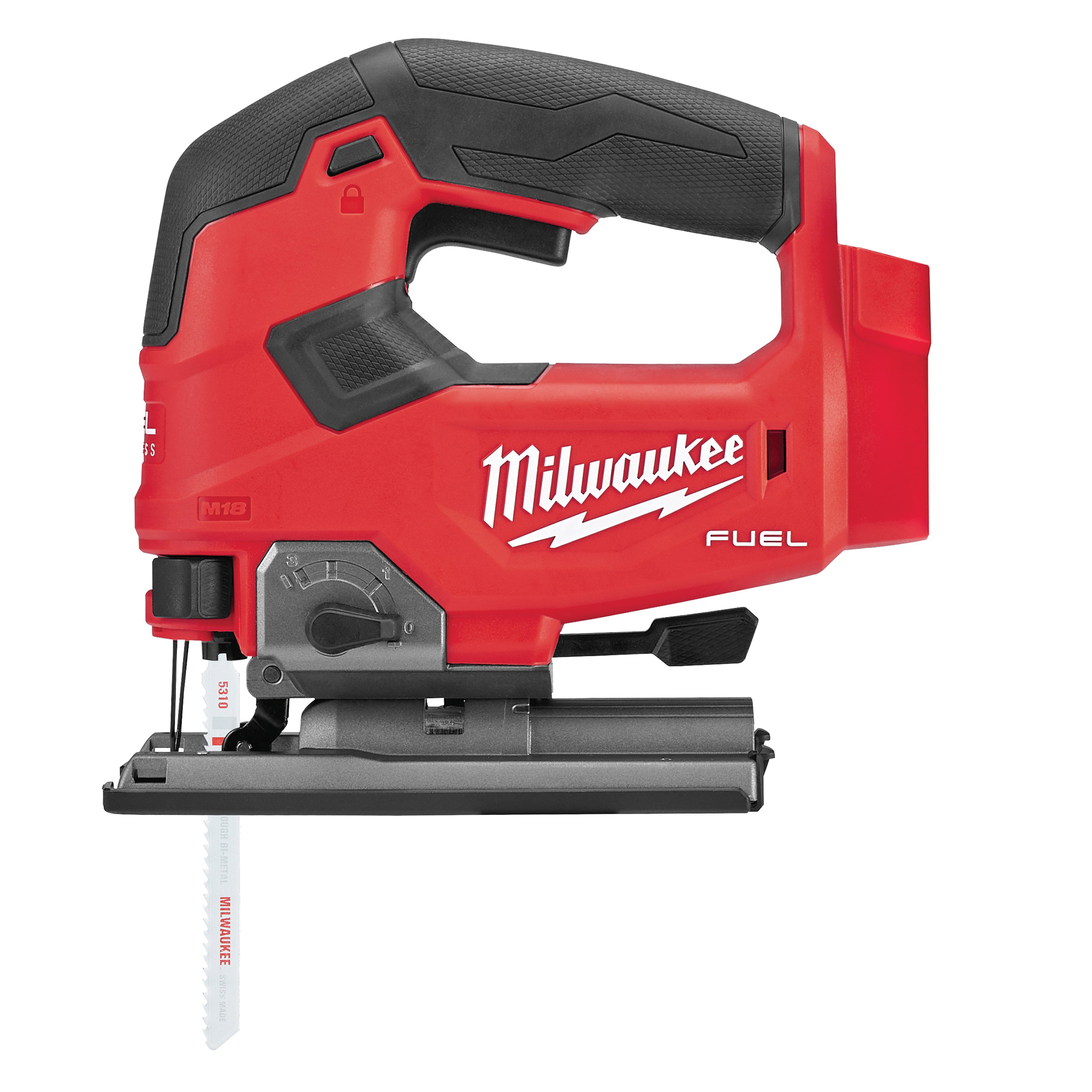 Picture of Milwaukee M18 FUEL 2737-20 Jig Saw, Bare Tool, 18 V Battery, 5 Ah, 5-1/2 in Wood Cutting Capacity, 1 in L Stroke