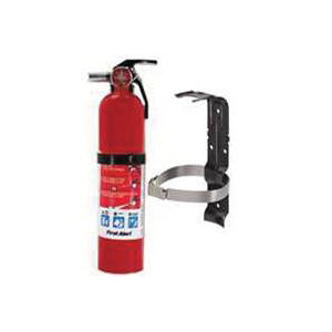 Picture of FIRST ALERT HOME1 Fire Extinguisher, 2.5 lb Capacity, Mono Ammonium Phosphate, 1-A:10-B:C Class