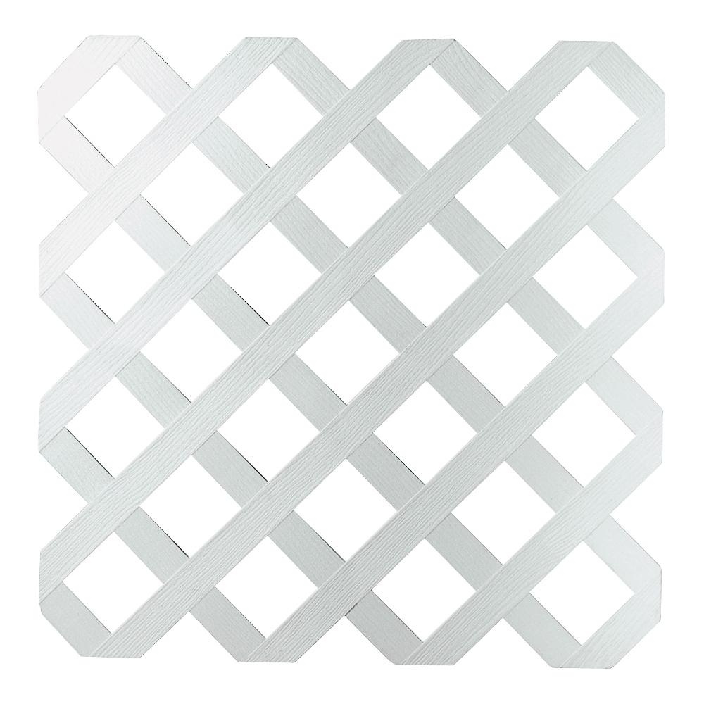 Picture of UPF 79897 Tradition Diamond Lattice, 8 ft L, 4 ft H, 2-3/4 in Mesh, Plastic, White
