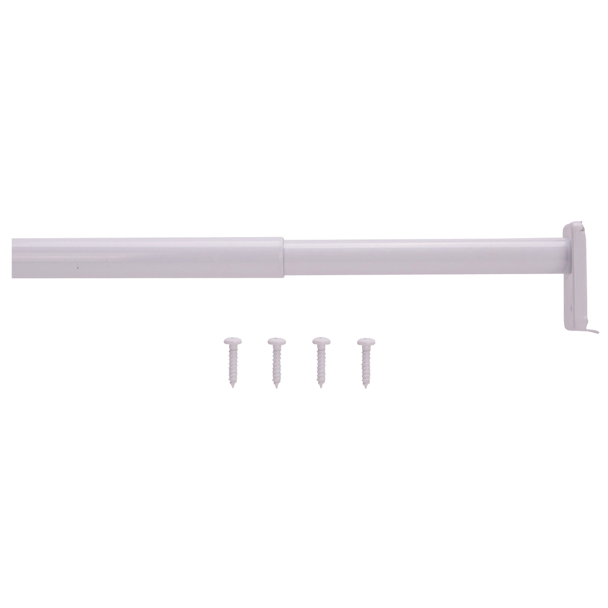Picture of ProSource 21012PHX-PS Adjustable Closet Rod, 18 to 30 in L, Steel, White