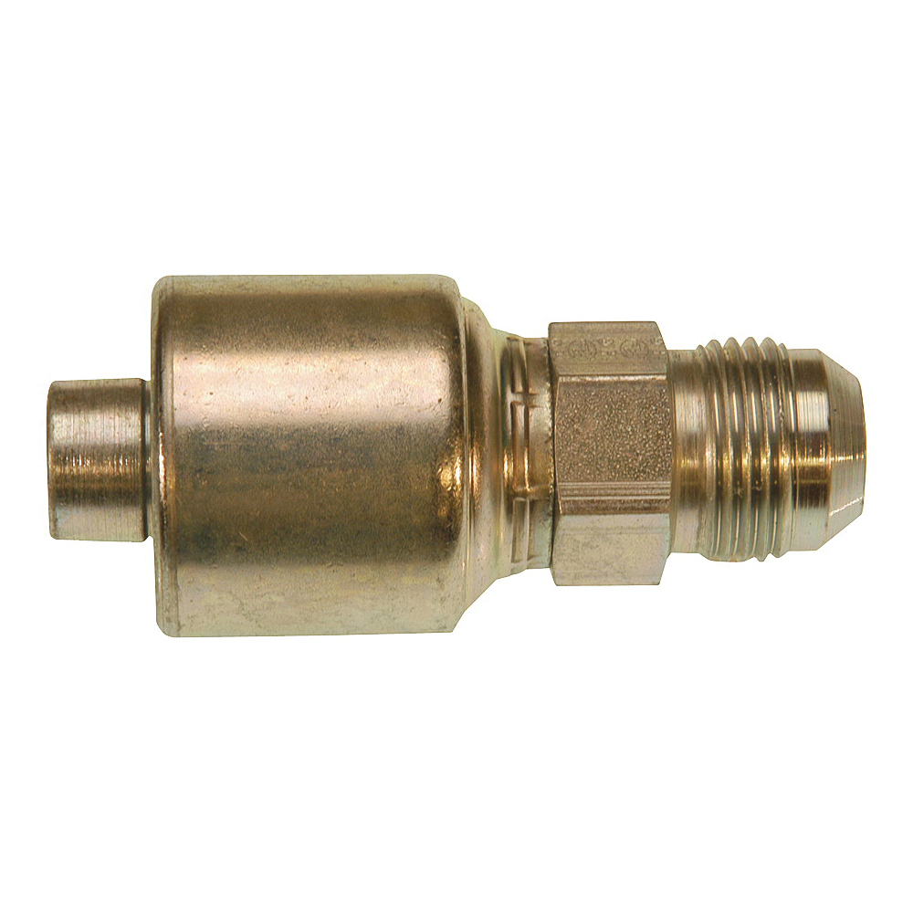 Picture of GATES MegaCrimp G25165-0406 Hose Coupling, 9/16-18, Crimp x JIC, Straight Angle, Steel, Zinc