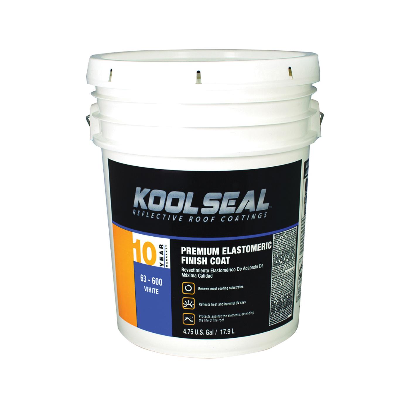 Picture of KOOL SEAL KS0063600-20 Elastomeric Roof Coating, White, 5 gal, Pail, Liquid