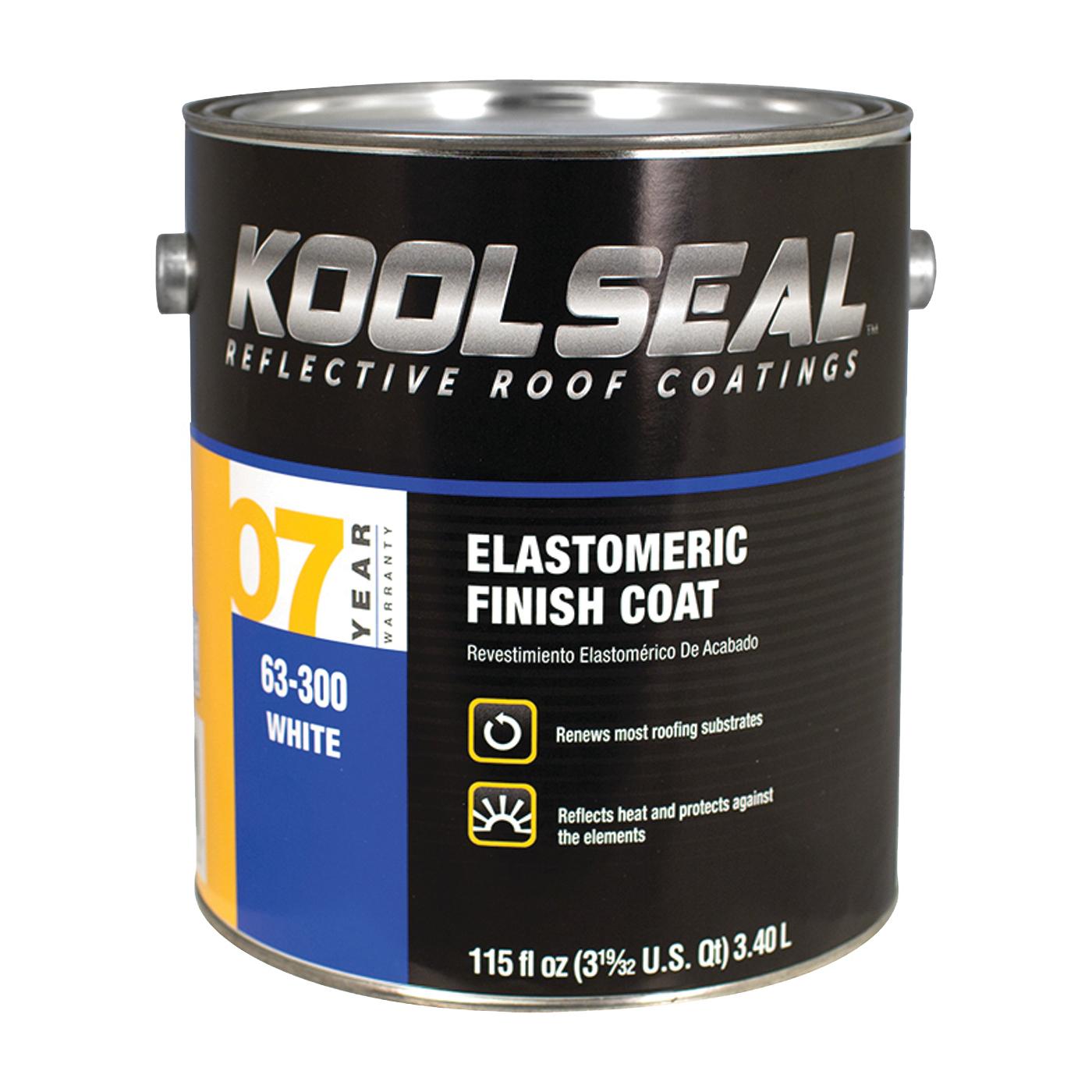 Picture of KOOL SEAL KS0063300-16 Elastomeric Roof Coating, White, 0.9 gal, Pail, Liquid