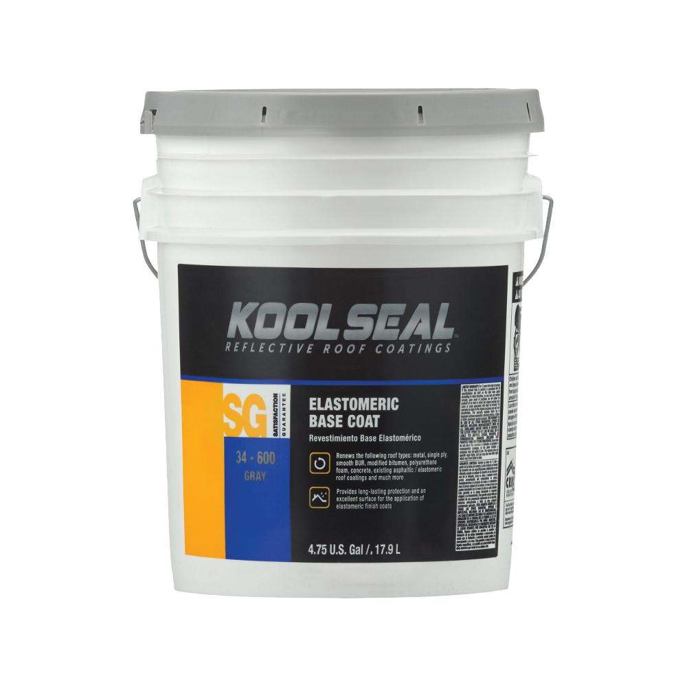 Picture of KOOL SEAL KS0063300-20 Elastomeric Roof Coating, White, 4.75 gal, Pail, Liquid