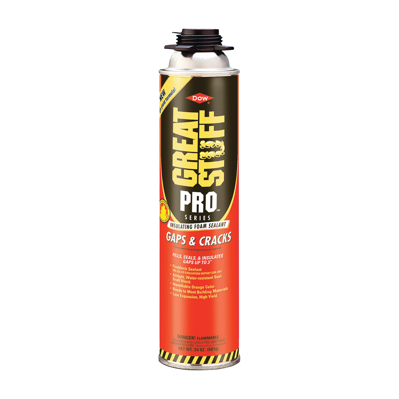 Picture of Dow 341557 Foam Sealant, Orange, 24 oz Package, Can