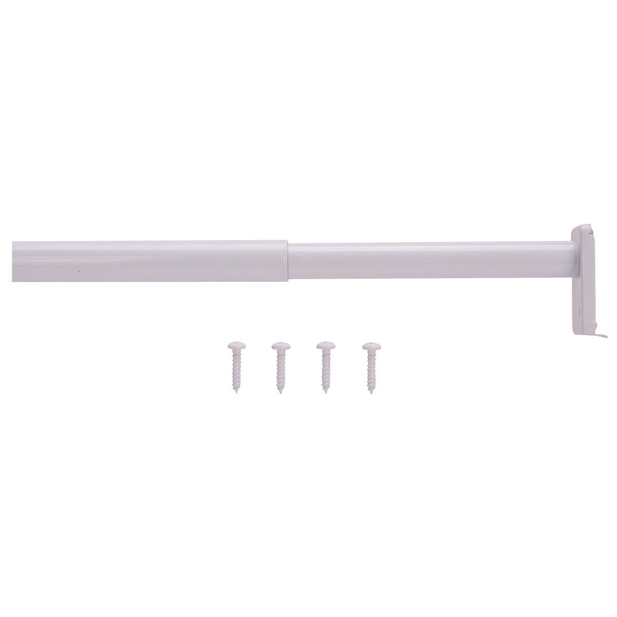 Picture of ProSource 21013PHX-PS Adjustable Closet Rod, 30 to 48 in L, Steel, White