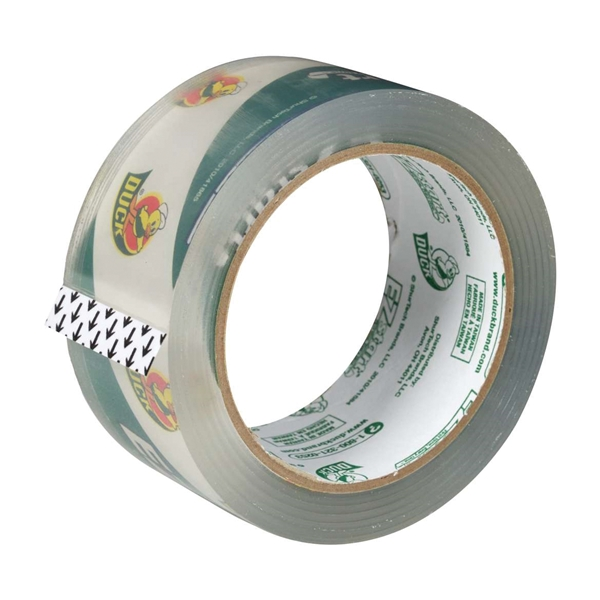 Picture of Duck EZ Start 299002 Packaging Tape, 60 yd L, 1.88 in W, Clear, 1, Roll