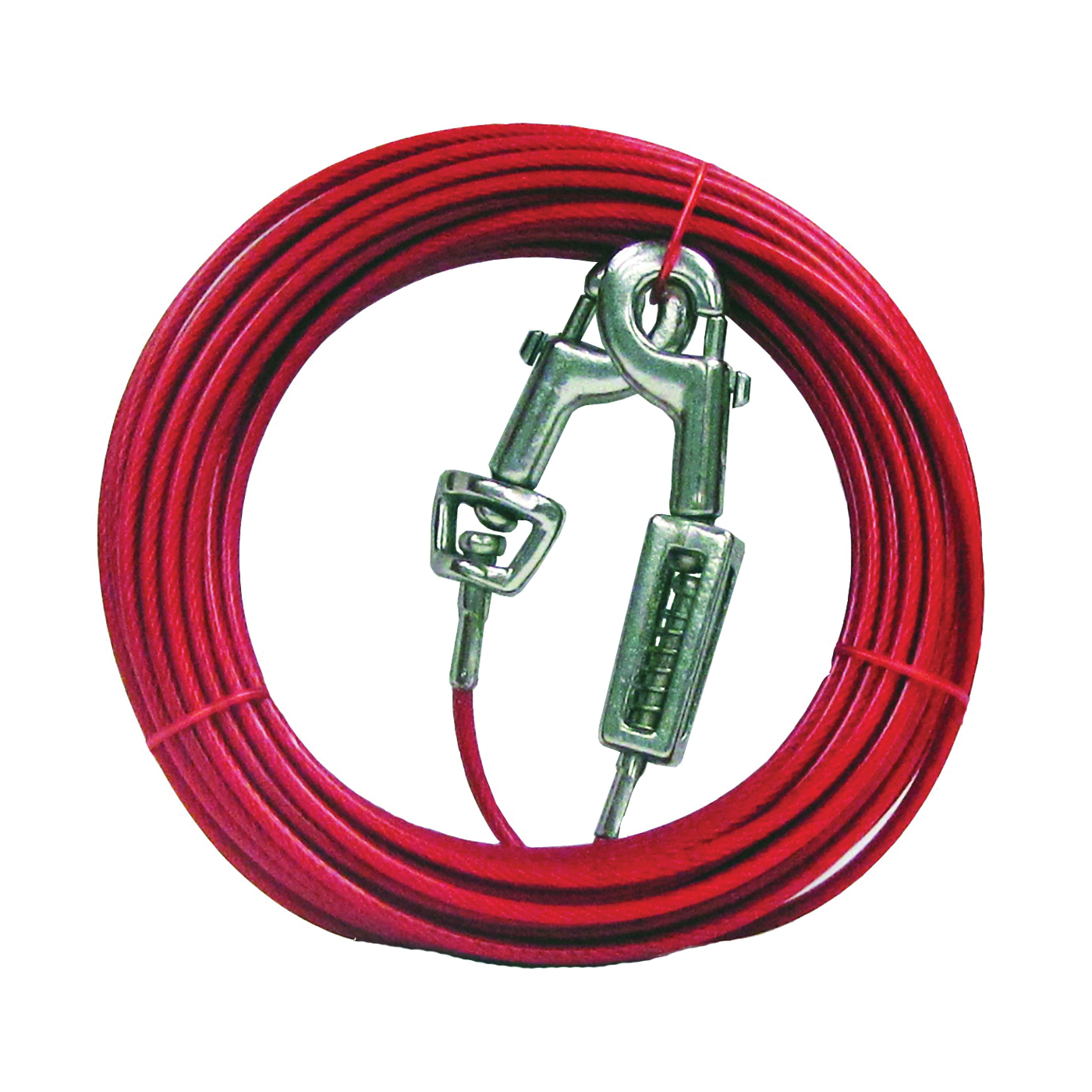 Picture of Boss Pet PDQ Q3520SPG99 Tie-Out with Spring, 20 ft L Belt/Cable, For: Large Dogs up to 60 lb