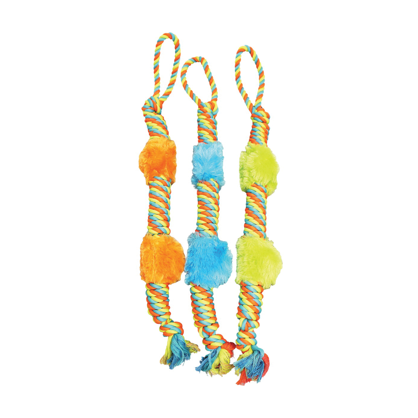 Picture of Chomper WB15523 Dog Toy, Plush Rope Tug Toy