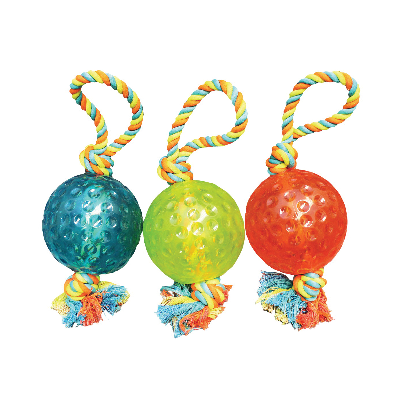 Picture of Chomper WB15527 Dog Toy, Tug Ball Toy, Thermoplastic Rubber