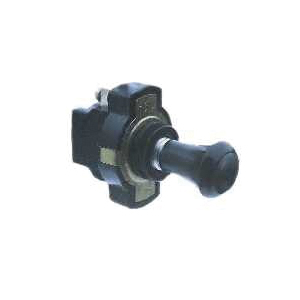 Picture of CALTERM 40180 Push/Pull Switch, 16 A, 12 VDC, Screw Terminal, Chrome Housing Material, Black