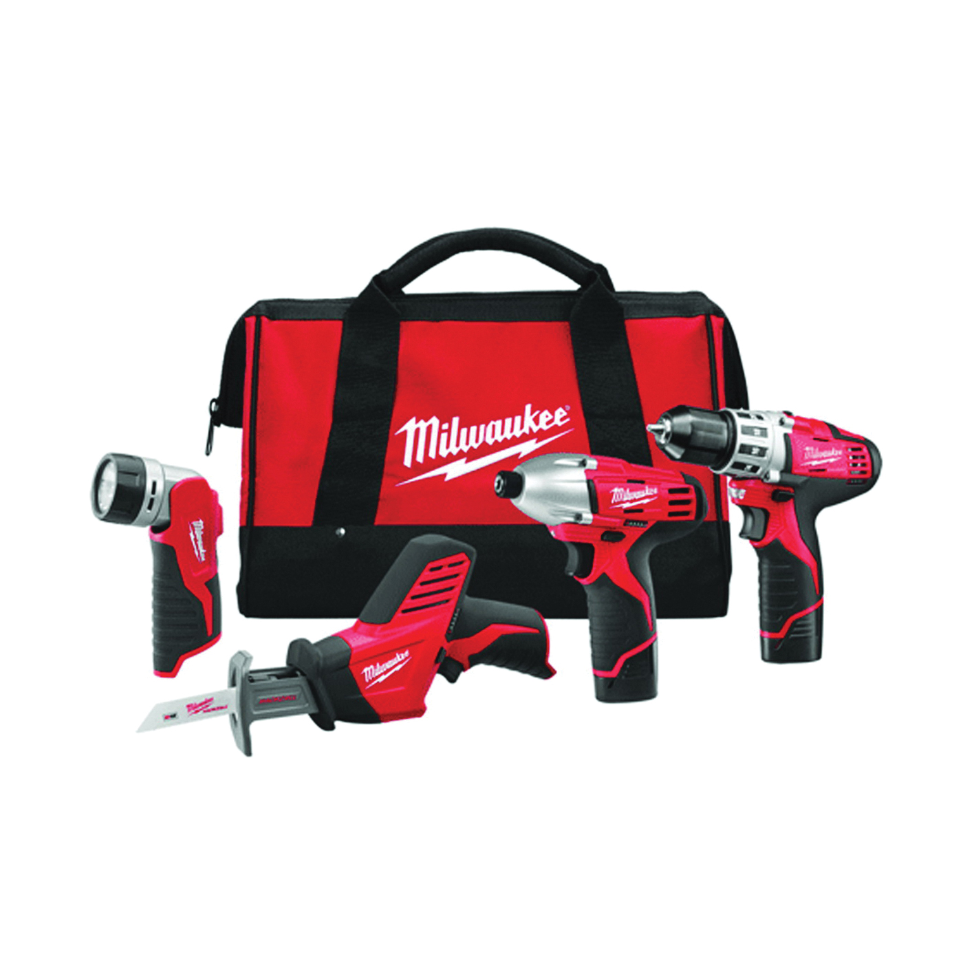 Picture of Milwaukee 2498-24 Four-Tool Combo Kit, Battery Included: No