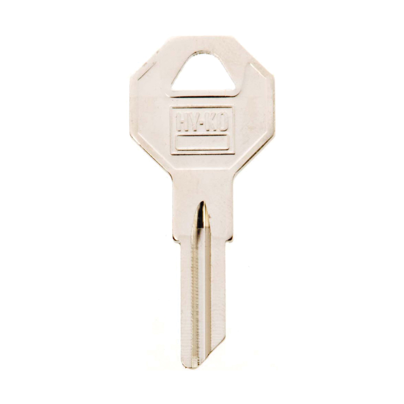 Picture of HY-KO 11010B2 Key Blank, Brass, Nickel, For: Briggs and Stratton Cabinet, House Locks and Padlocks
