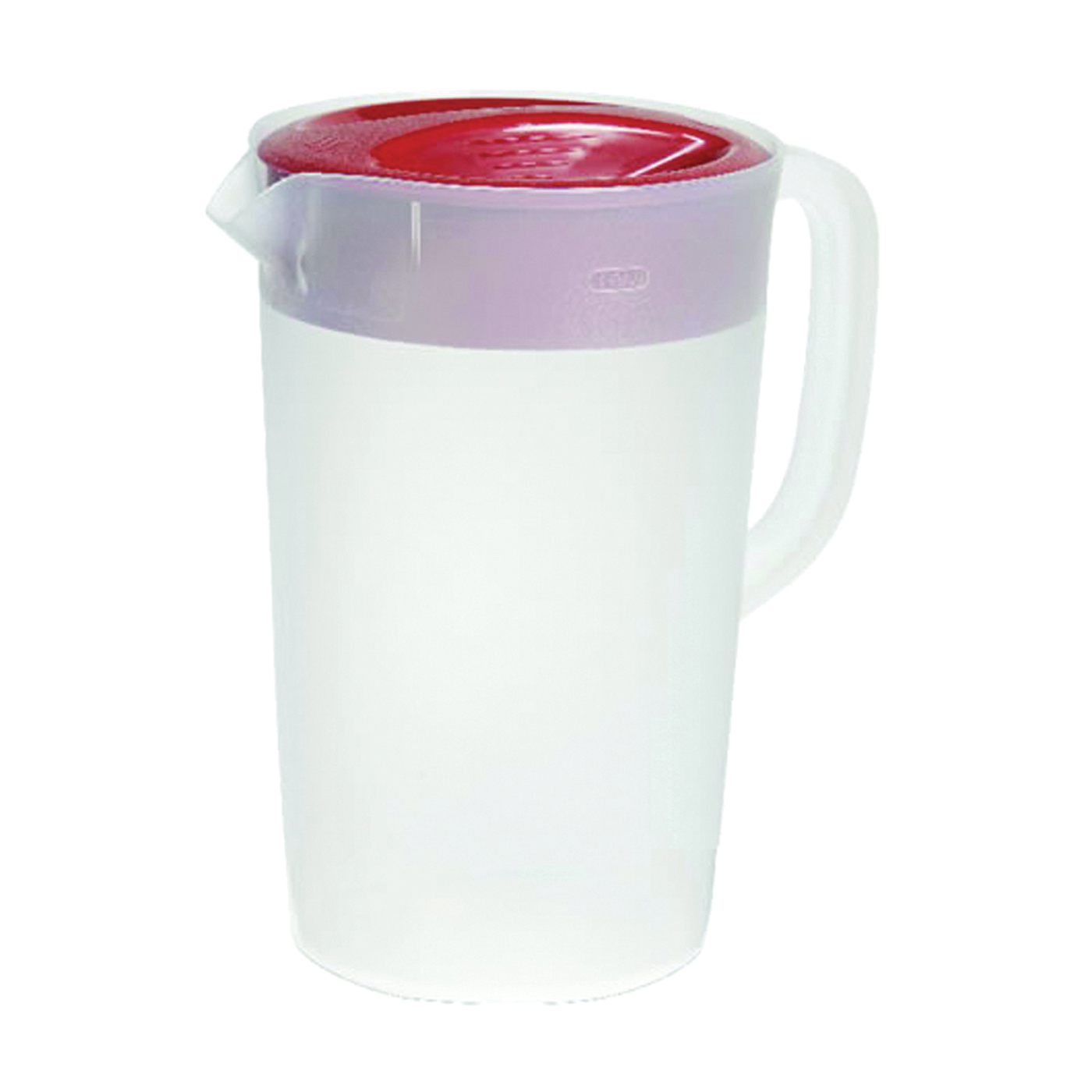 Picture of Rubbermaid 1777155 Pitcher, 1 gal Capacity, Polyethylene, Clear/Racer Red