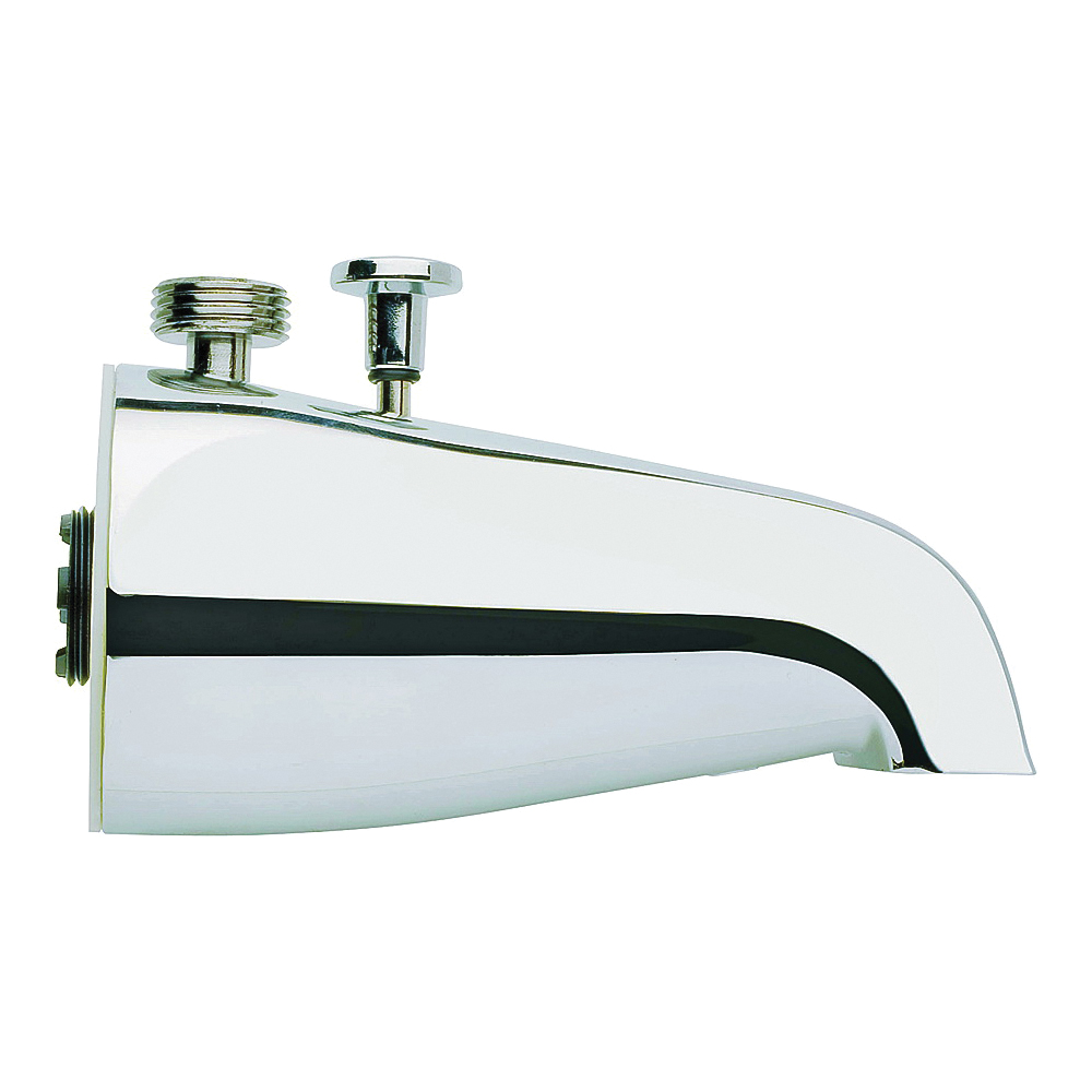 Picture of Plumb Pak PP825-32 Bathtub Spout with Diverter, 3/4 in Connection, IPS, Chrome, For: 1/2 in or 3/4 in Pipe