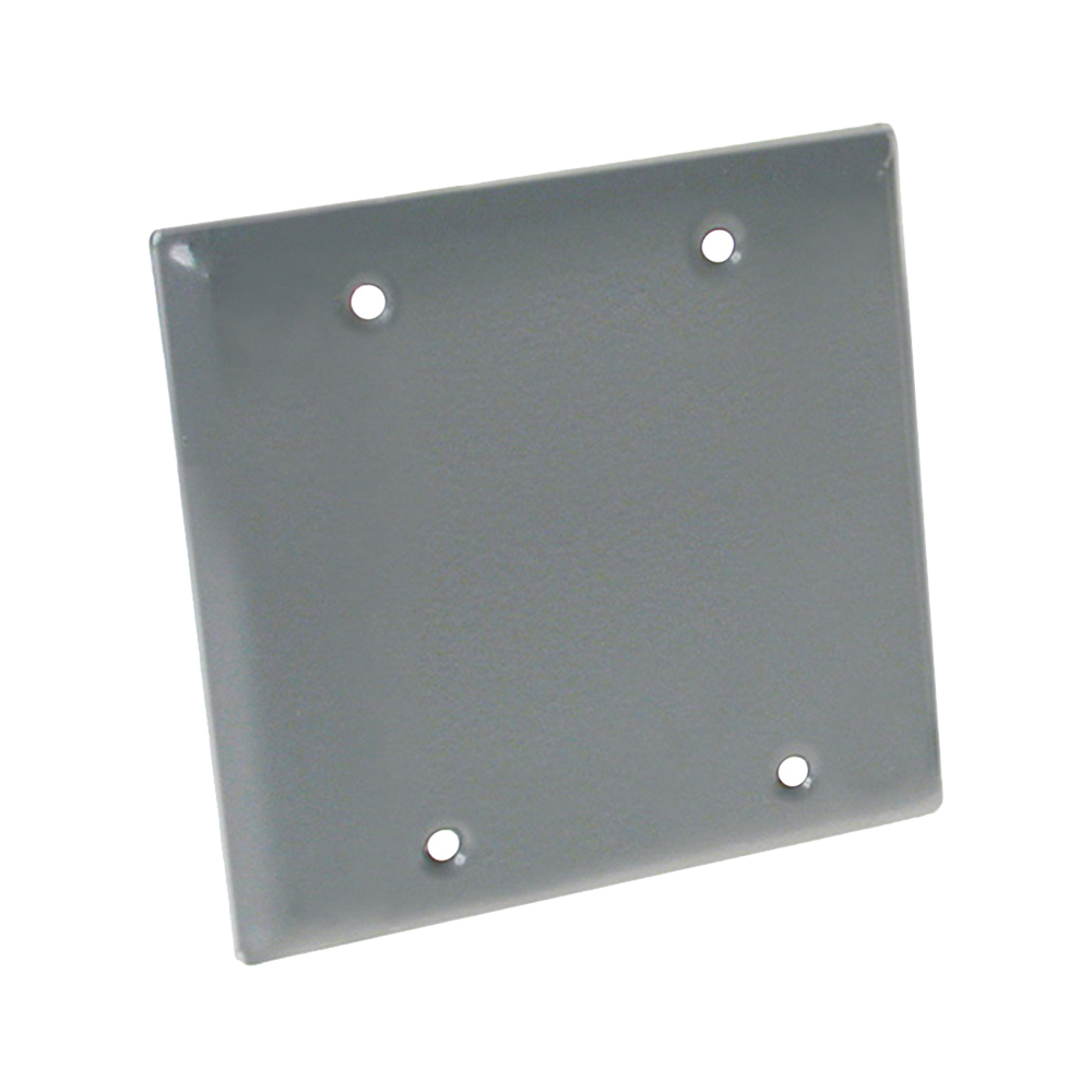 Picture of HUBBELL 5175-5 Cover, 4-1/2 in L, 4-1/2 in W, Metal, Gray, Powder-Coated