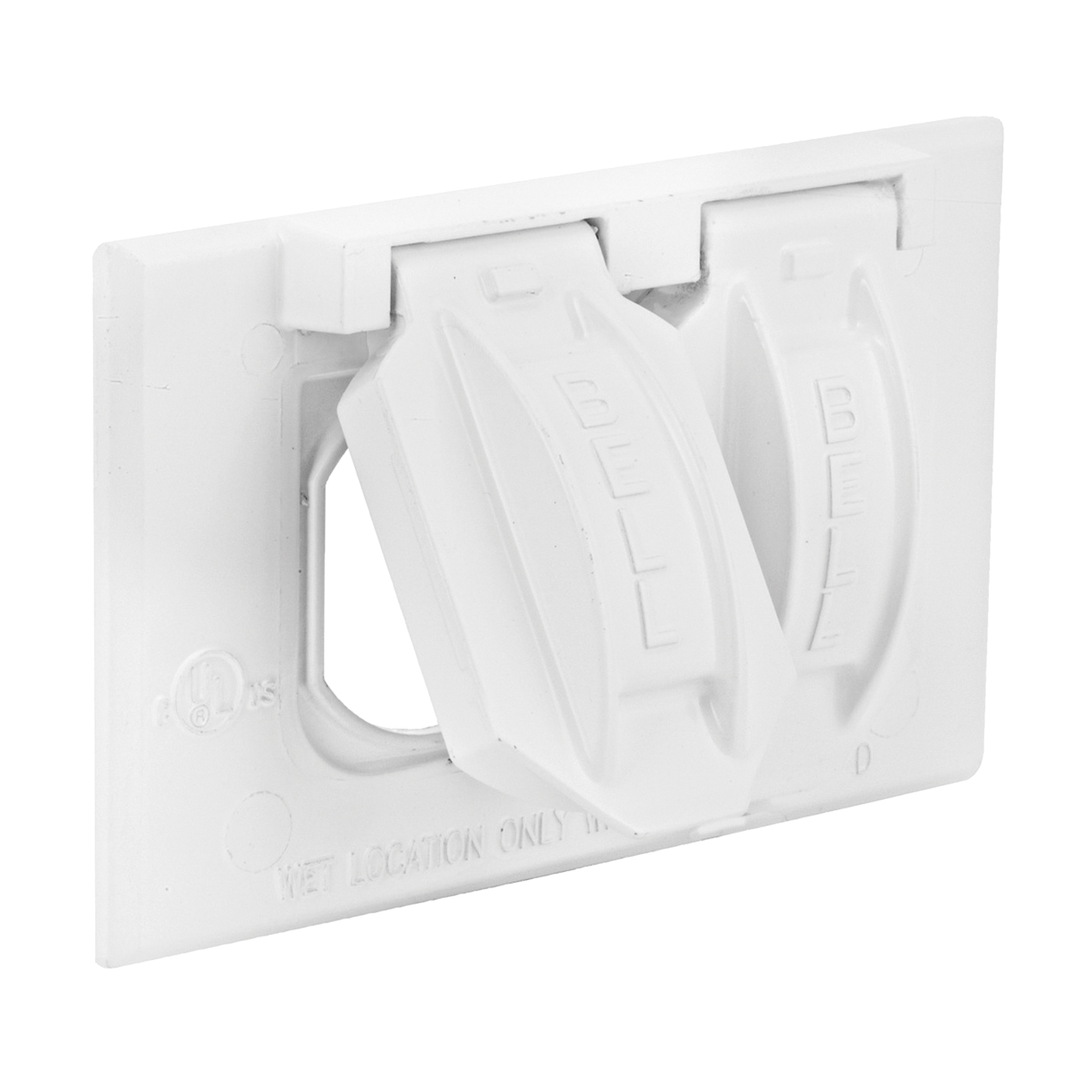 Picture of HUBBELL 5180-6 Cover, 2-13/16 in L, 4-9/16 in W, Metal, White, Powder-Coated