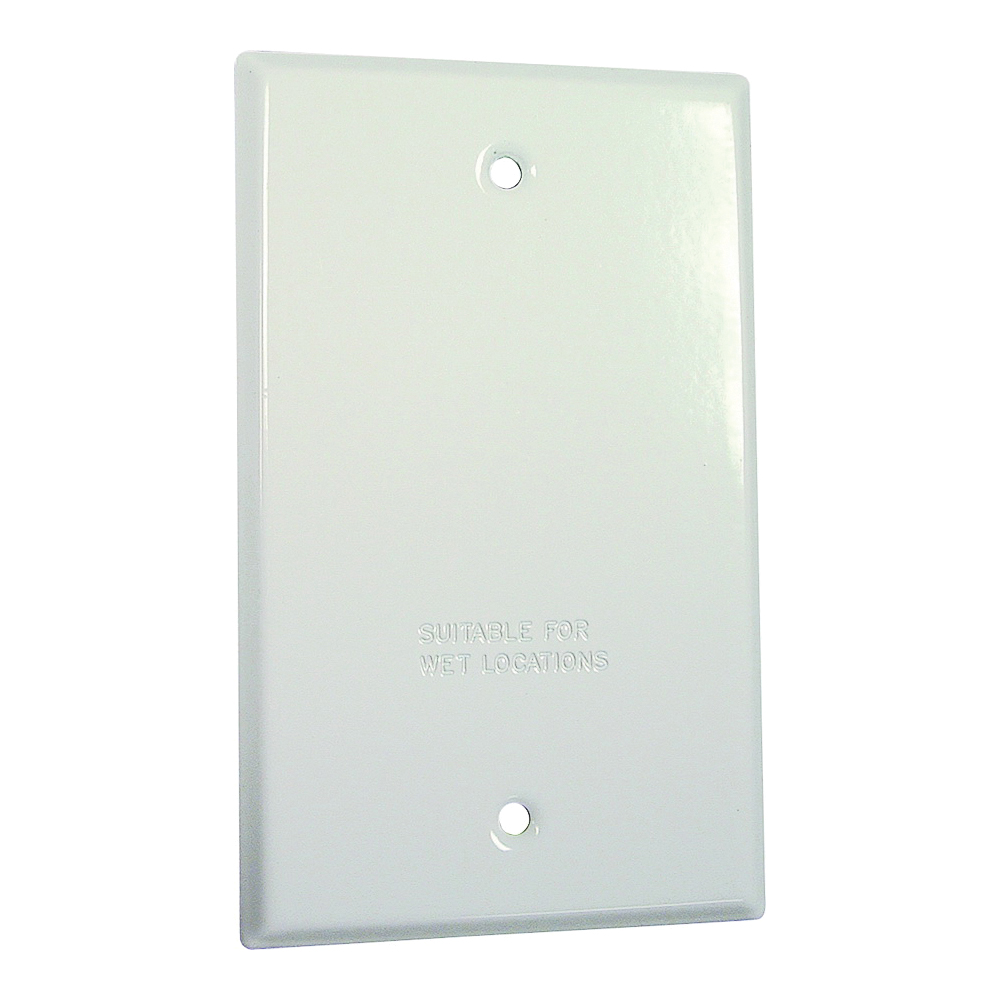 Picture of HUBBELL 5173-6 Cover, 4-17/32 in L, 2-25/32 in W, Metal, White, Powder-Coated
