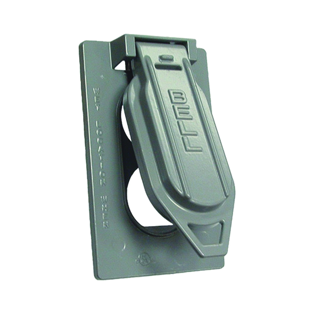 Picture of HUBBELL 5146-5 Cover, 4-9/16 in L, 2-13/16 in W, Aluminum, Gray, Powder-Coated