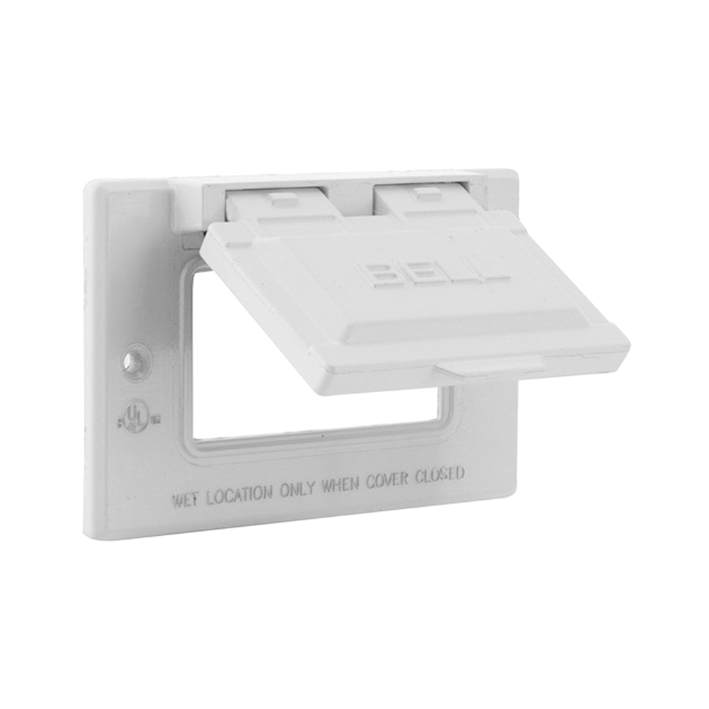 Picture of HUBBELL 5101-6 Cover, 2-13/16 in L, 4-9/16 in W, Metal, White, Powder-Coated