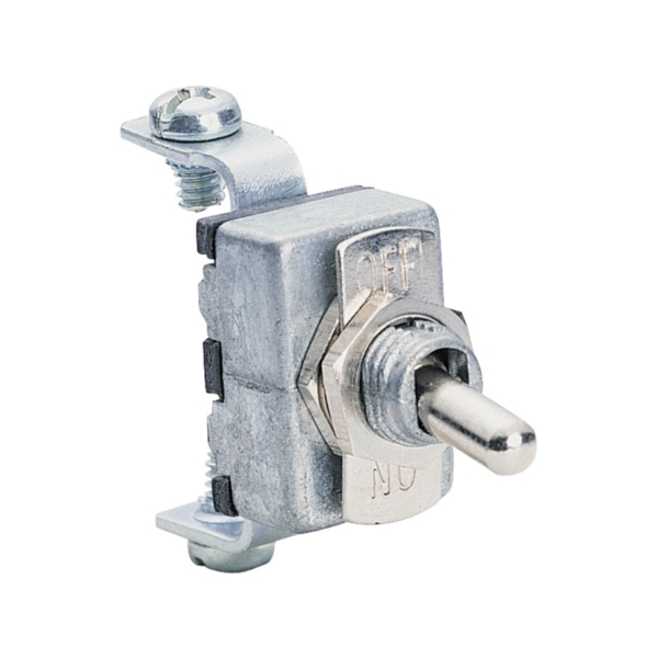 Picture of CALTERM 41700 Toggle Switch, 15 A, 12 VDC, Screw Terminal, Chrome Housing Material