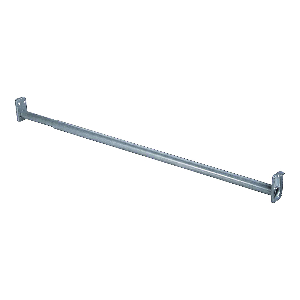 Picture of ProSource 21090ZCX-PS Adjustable Closet Rod, 96 to 150 in L, Steel, Silver