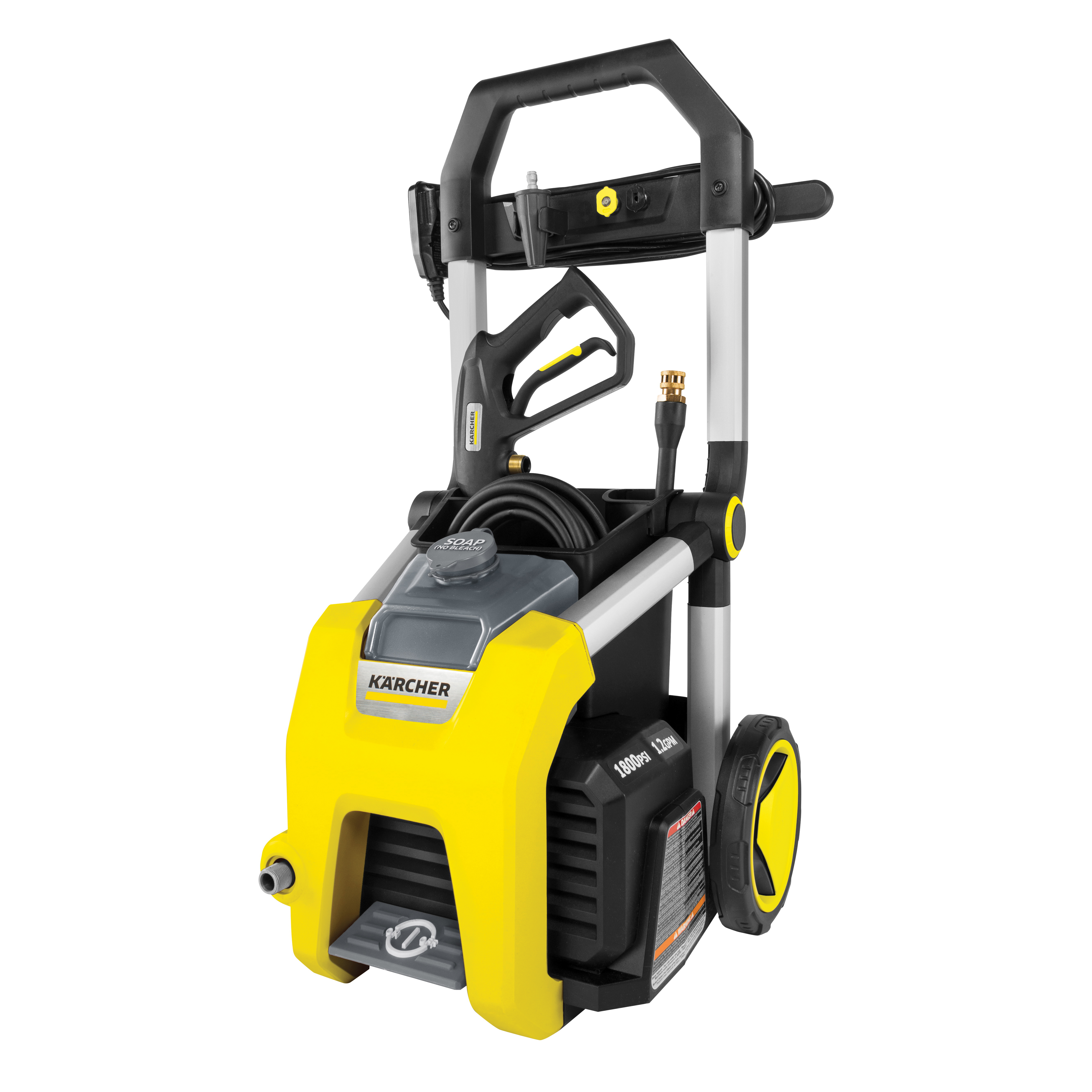 Picture of Karcher K1800 Pressure Washer, 1 -Phase, 13 A, 120 V, Axial Cam Pump, 1800 psi Operating, 1.2 gpm, Spray Nozzle