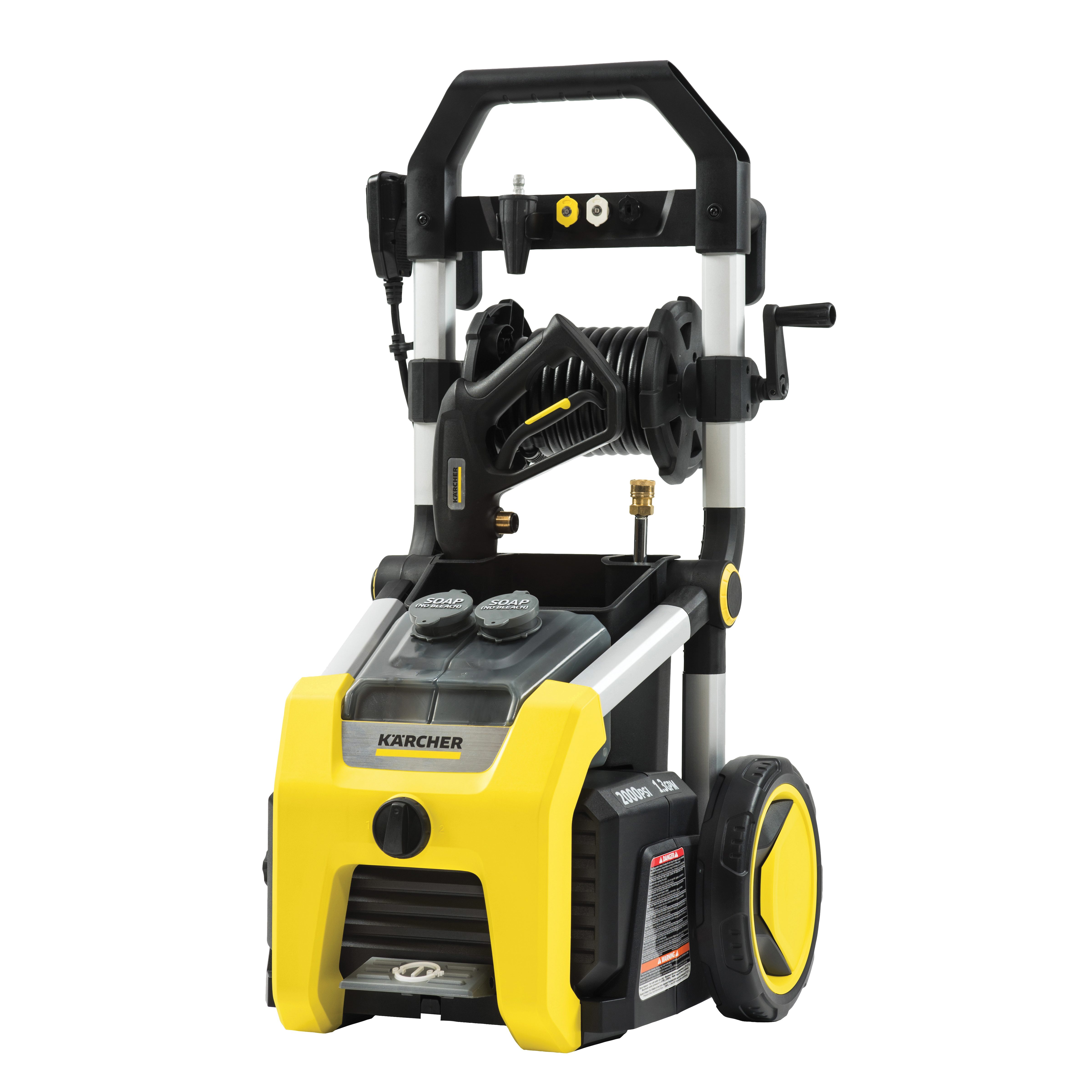 Picture of Karcher K2000 Pressure Washer, 1 -Phase, 13 A, 120 V, 2000 psi Operating, 1.3 gpm, Spray Nozzle, 25 ft L Hose