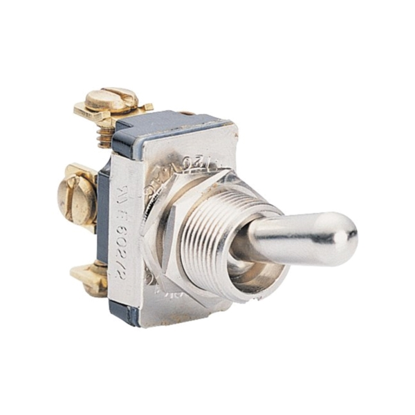 Picture of CALTERM 41710 Toggle Switch, 15 A, 12 VDC, Screw Terminal, Metal Housing Material, Silver