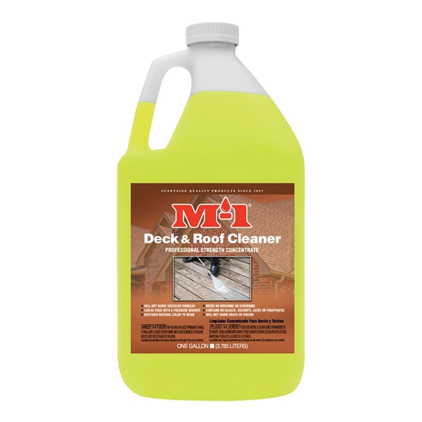 Picture of M-1 DRC1G Deck Cleaner, Liquid, Mild, Yellow, 1 gal, Bottle