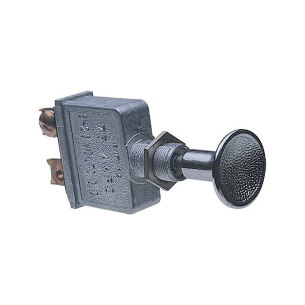 Picture of CALTERM 41790 Push/Pull Switch, 75 A, 6/28 VDC, Screw Terminal, Nickel Housing Material