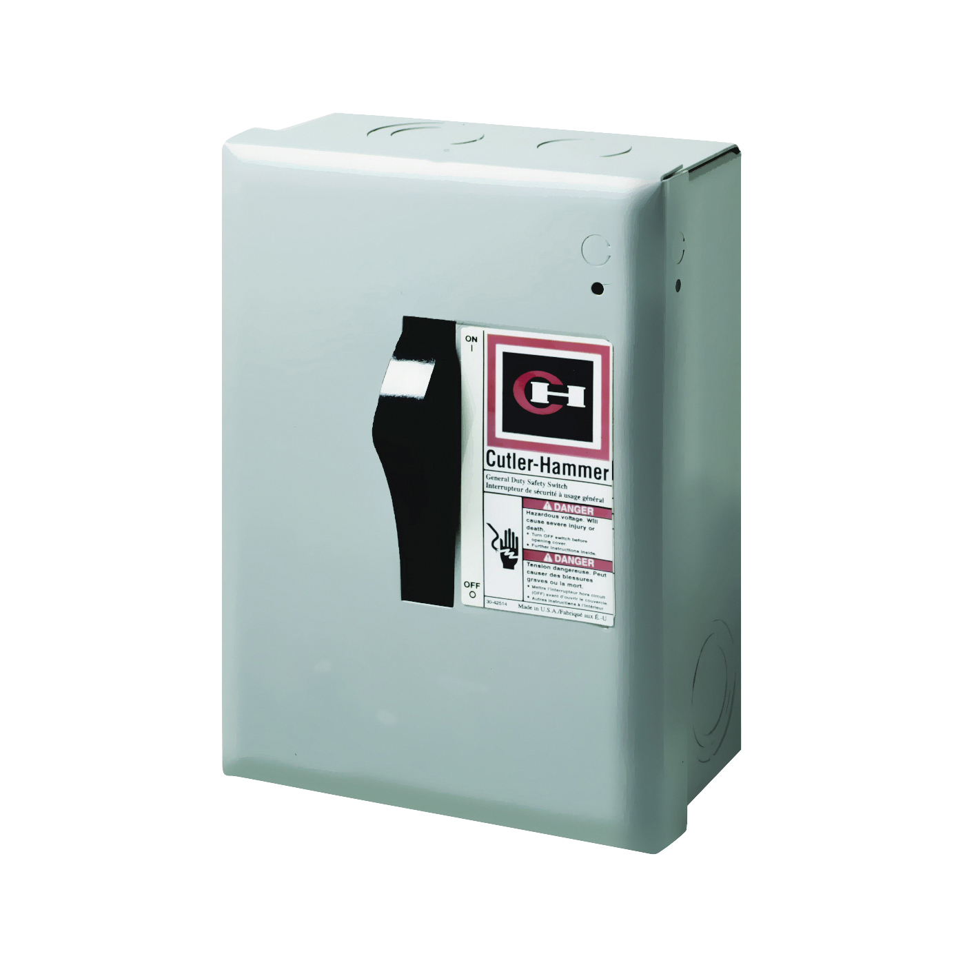 Picture of Cutler-Hammer DP221NGB Safety Switch, 2-Pole, 30 A, 120/240 V