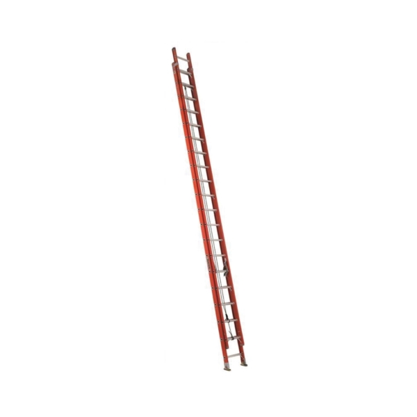 Picture of Louisville FE3240 Extension Ladder, 449 in H Reach, 300 lb, 1-1/2 in D Step, Fiberglass, Orange