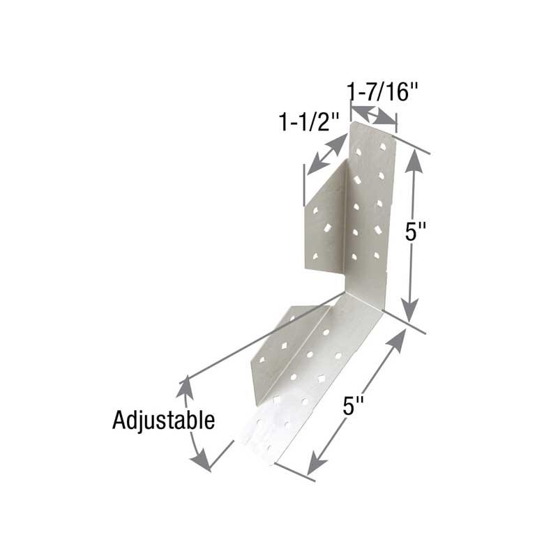 Picture of MiTek CSH-TZ Concealed Stringer Hanger, 10 in W, 1-7/16 in D, Steel, Zinc