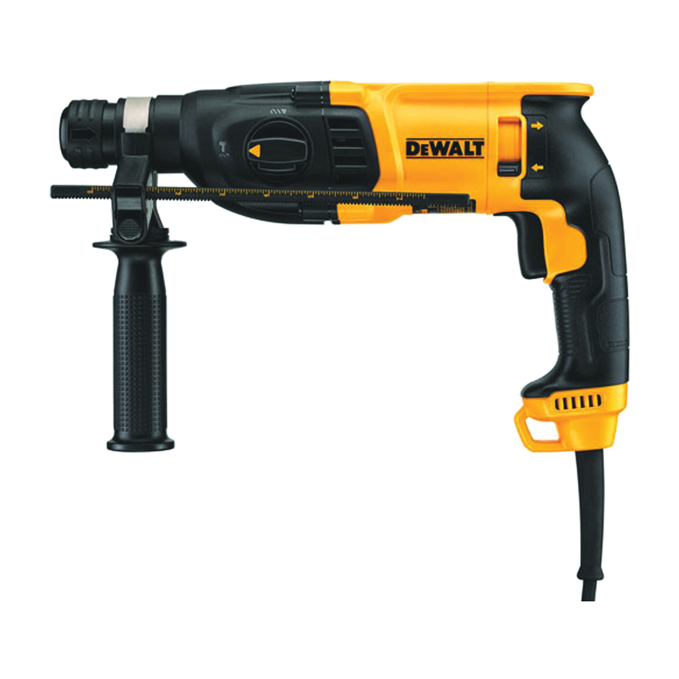 Picture of DeWALT D25133K Hammer, 120 V, 7 A, 5/32 to 5/8 in Concrete Drilling, 1/2 in Chuck, Keyless Chuck