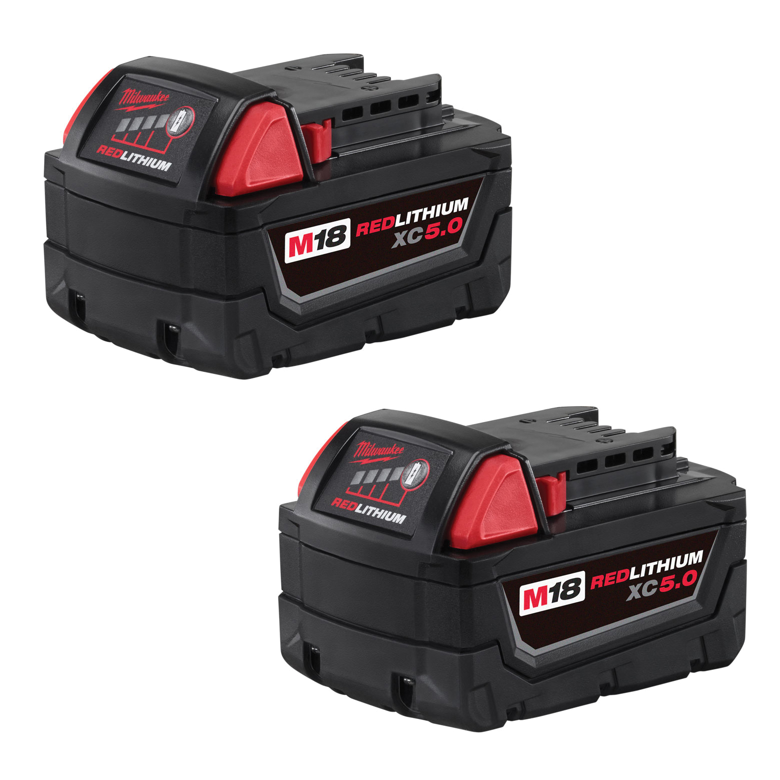 Picture of Milwaukee M18 REDLITHIUM 48-11-1852 Battery Pack, 18 V Battery, 5 Ah, 2