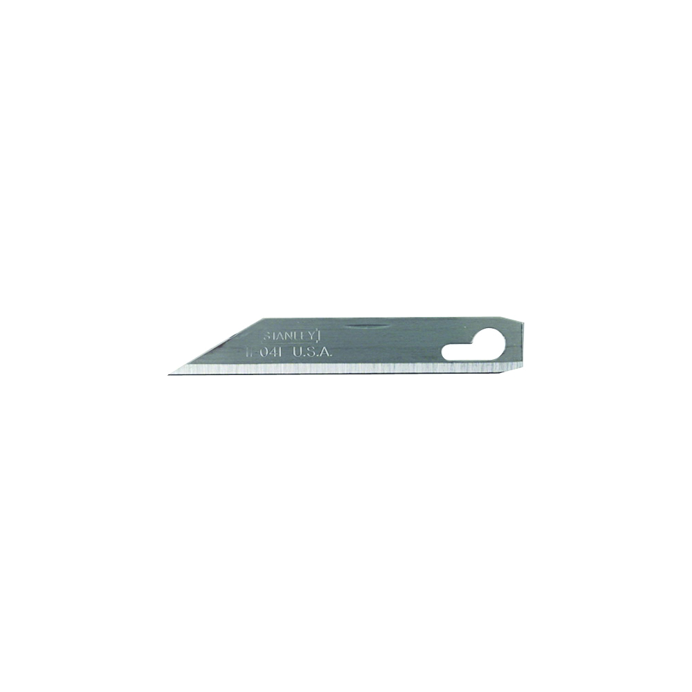 Picture of STANLEY 11-041 Replacement Knife Blade, 2-9/16 in L, Stainless Steel, Single-Edge Edge, 1 -Point, 1/PK, Carded