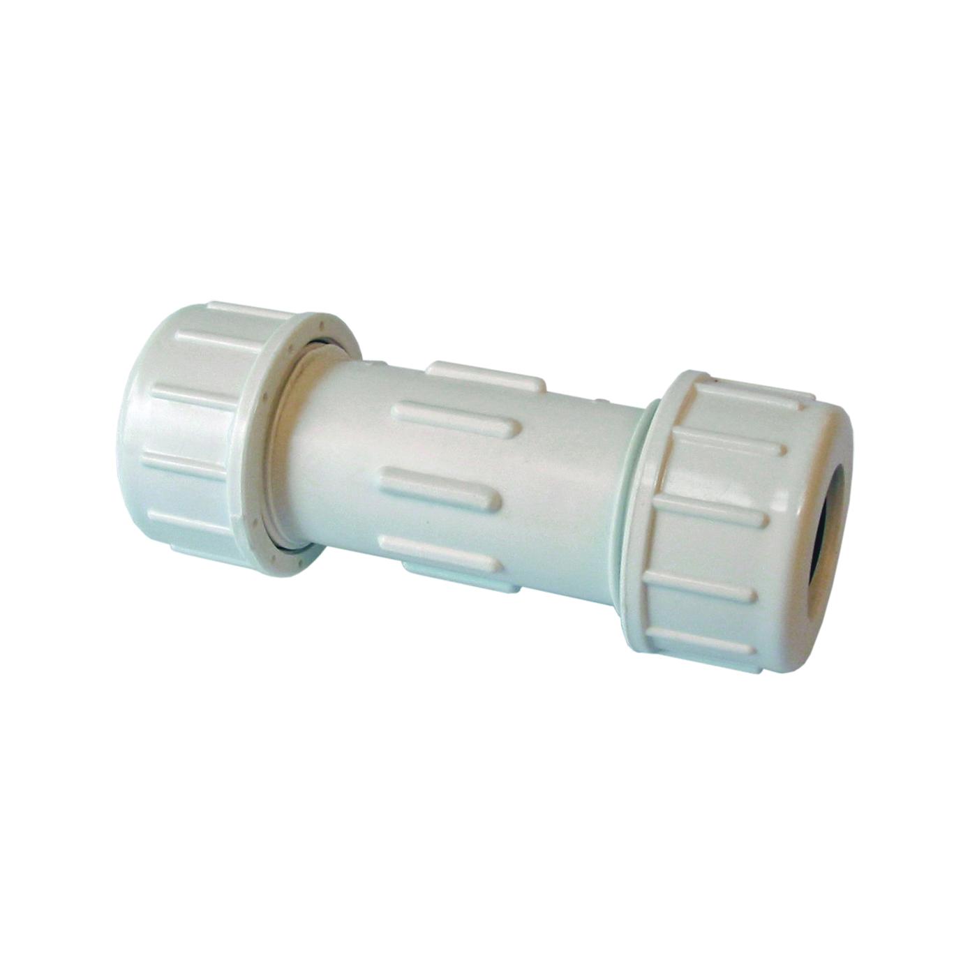 Picture of AMERICAN VALVE P600U 1-1/2 Compression Coupler, 1-1/2 in, Compression, SCH 40 Schedule, 150 psi Pressure
