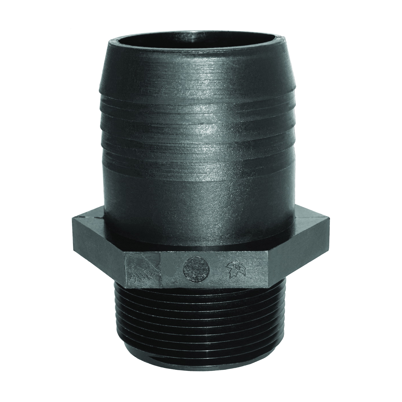 Picture of GREEN LEAF A1212P Adapter Fitting, 1/2 in, MPT x Hose Barb, Polypropylene