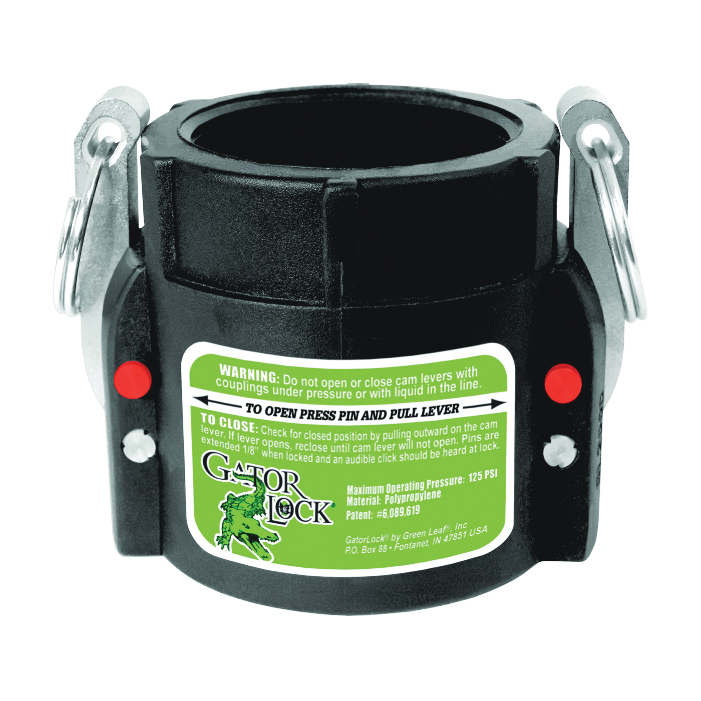 Picture of GREEN LEAF GLP 200 D Cam Lever Coupling, 2 in, Female x FNPT, Glass Filled Polypropylene